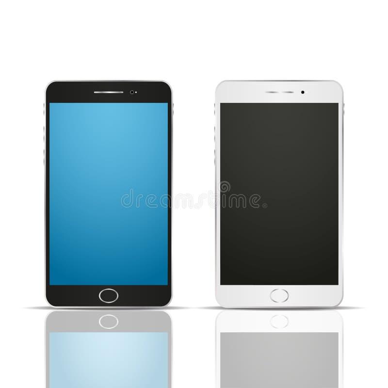 Realistische smartphone twee met bezinning Rebecca 36 stock illustratie
