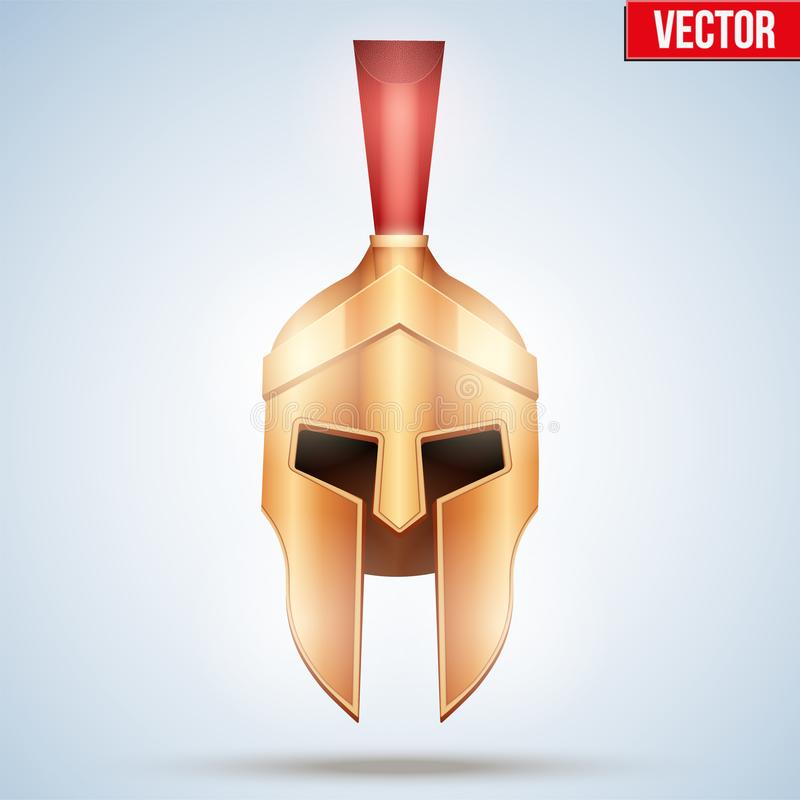 Realistische Spartaanse helm royalty-vrije illustratie