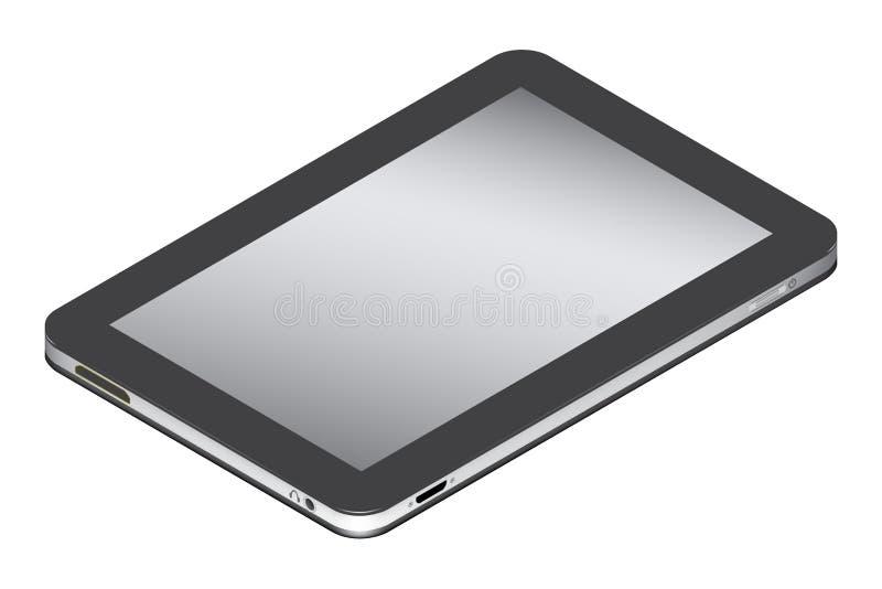 Realistische tablet in isometry linkerkant geïsoleerd op een witte achtergrond royalty-vrije illustratie