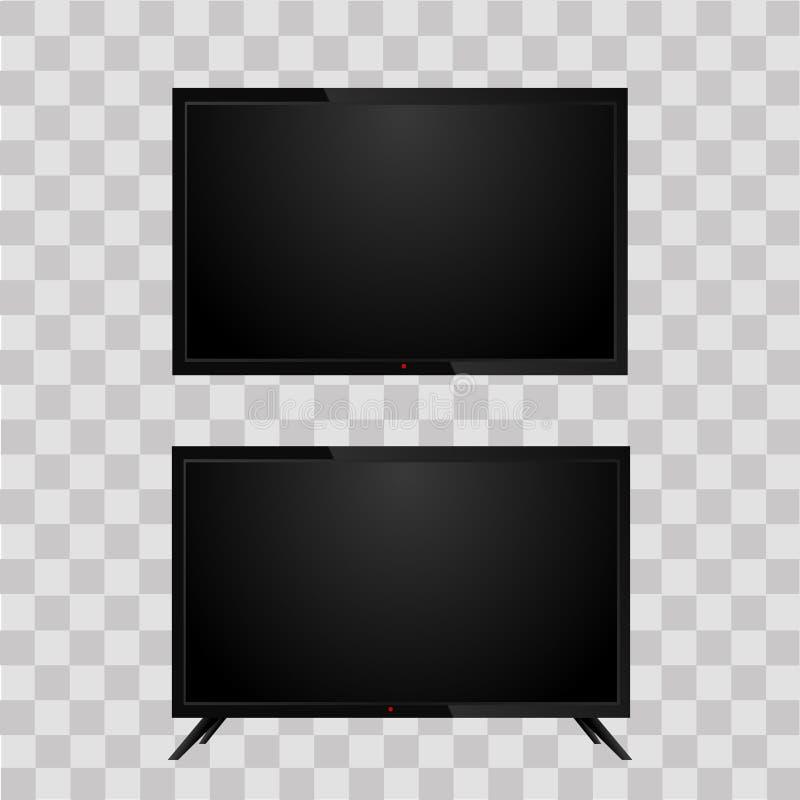 Realistische Televisietv op transparante achtergrond Vector vector illustratie