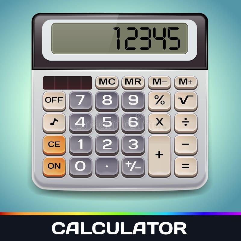 Realistische Vector Elektronische Calculator vector illustratie