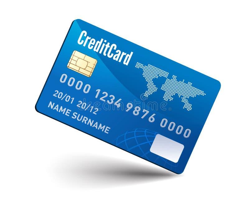 Realistische vectorCreditcard royalty-vrije illustratie