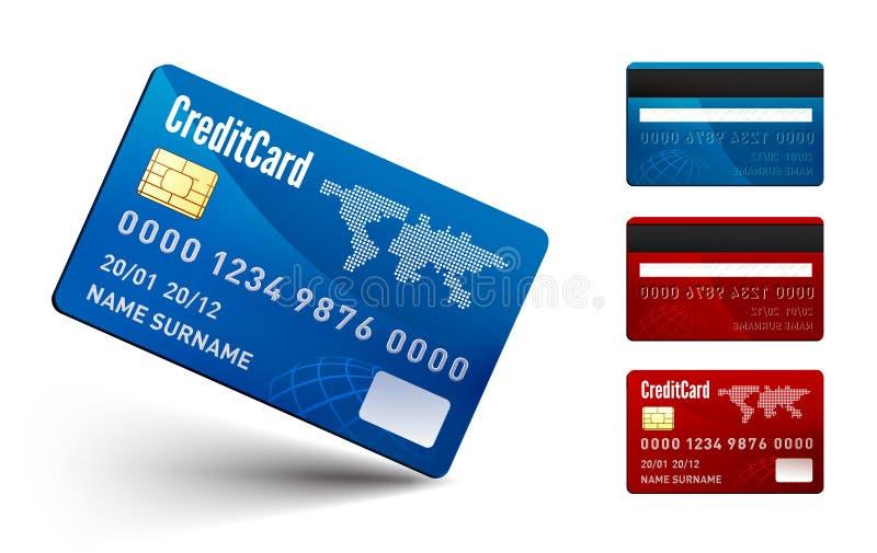 Realistische vectorCreditcard twee kanten vector illustratie