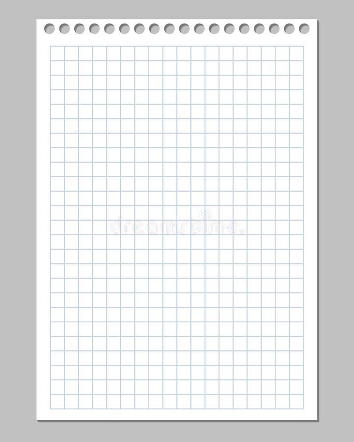 Realistische vectorillustratie van geregeld document blad royalty-vrije illustratie
