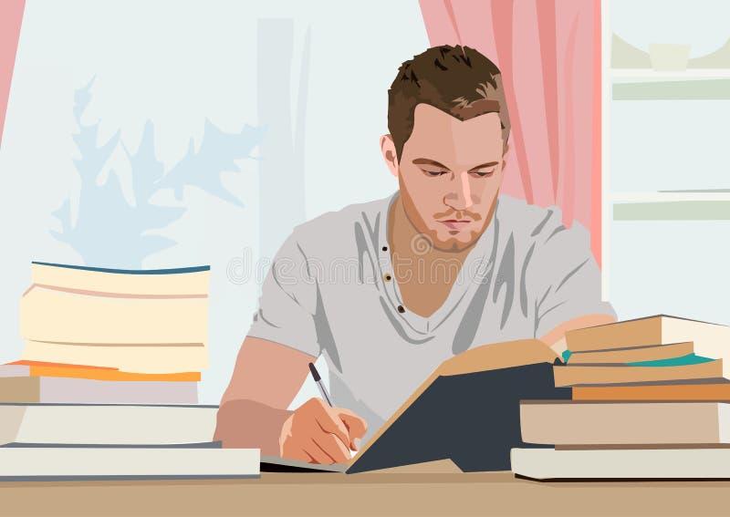 Realistische vectorillustratie van schrijver vector illustratie