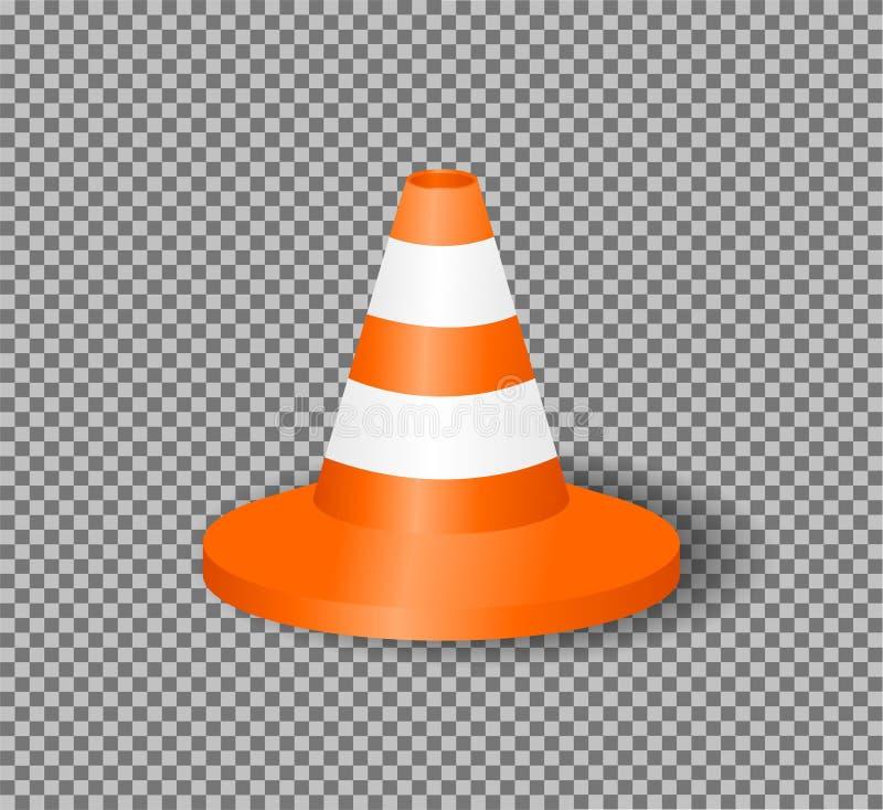 Realistische verkeerskegel Vector illustratie vector illustratie
