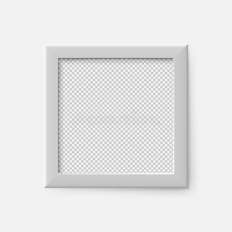 Realistische vierkante lege omlijsting Het lege witte malplaatje van het omlijstingmodel Vector illustratie royalty-vrije illustratie