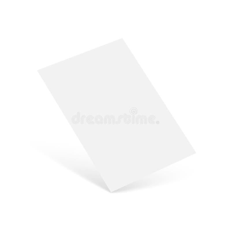 Realistische Visitenkartemodellschablone Vektor lizenzfreie abbildung