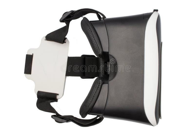 Realistische VR-camera, VR-Doos/Virtuele Werkelijkheidsglazen die op witte achtergrond wordt geïsoleerd stock fotografie