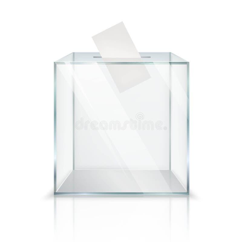 Realistische Wahlurne stock abbildung