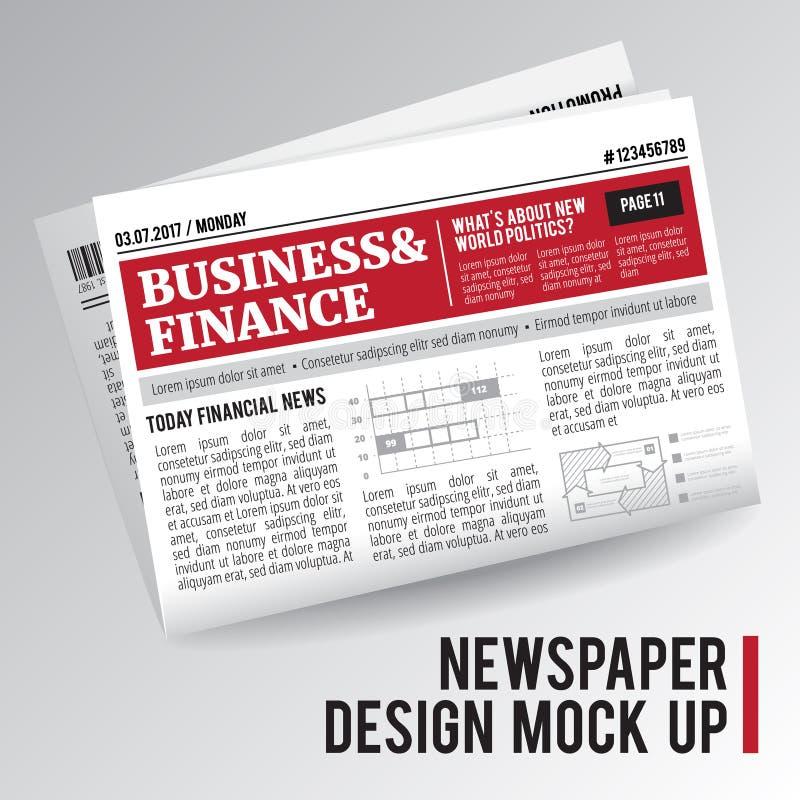 Realistische wirtschaftliche Zeitung vektor abbildung