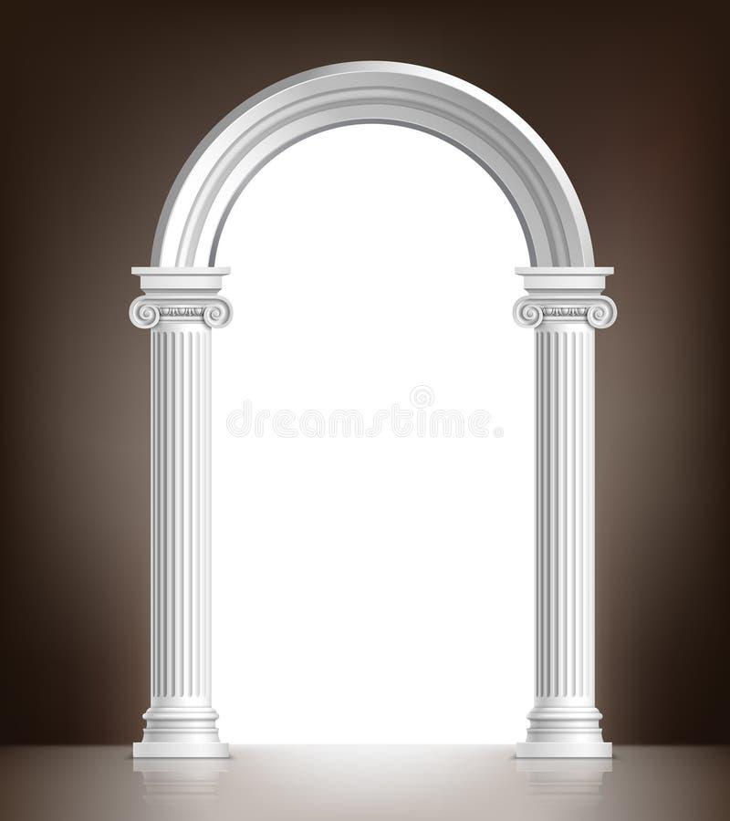 Realistische witte boog vector illustratie