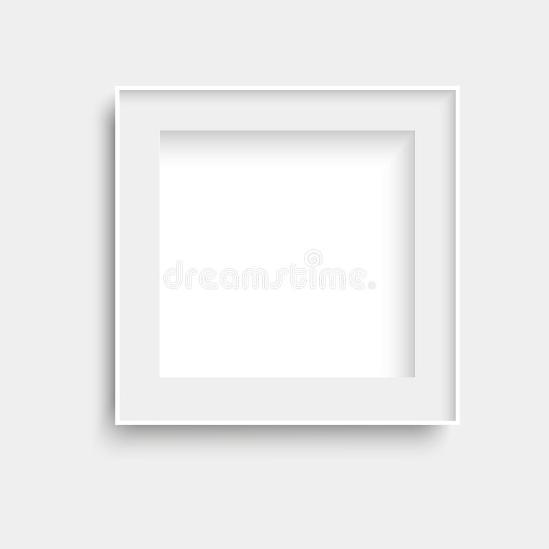 Realistische witte het kaderspot van de fotoaffiche omhoog Vector royalty-vrije illustratie