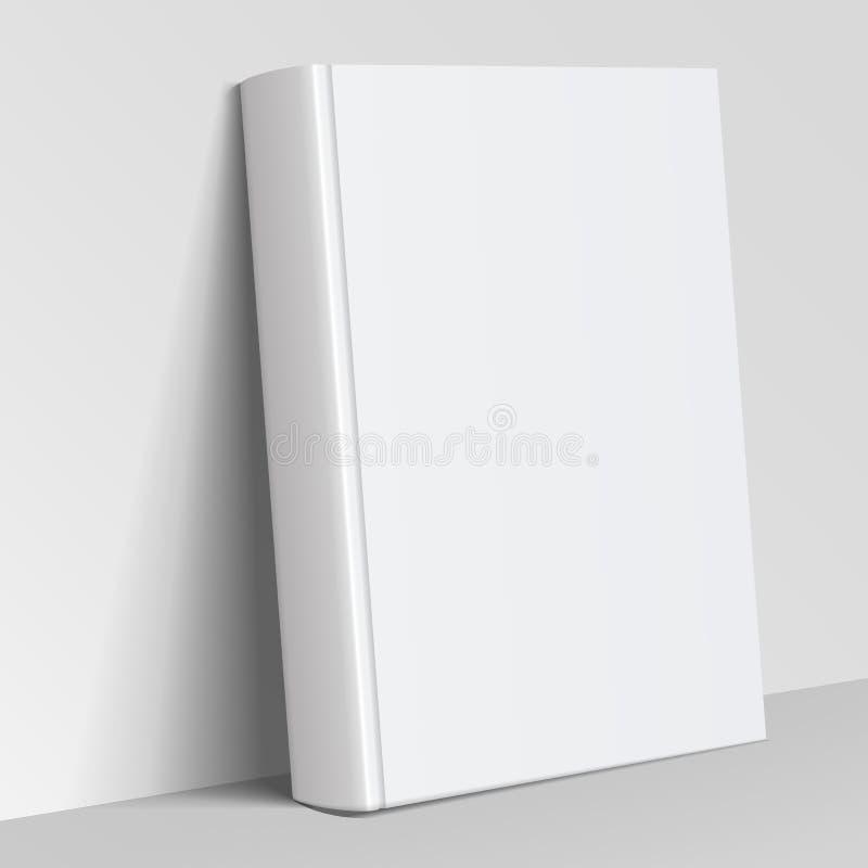 Realistische witte Lege boekdekking vector illustratie