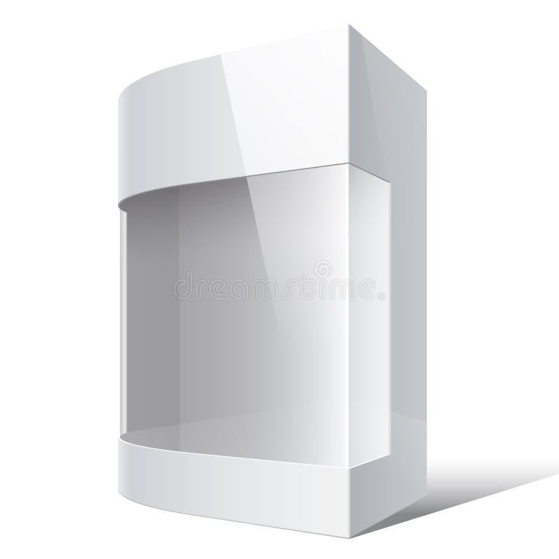 Realistische Witte Pakketdoos met rond gemaakte hoek royalty-vrije illustratie