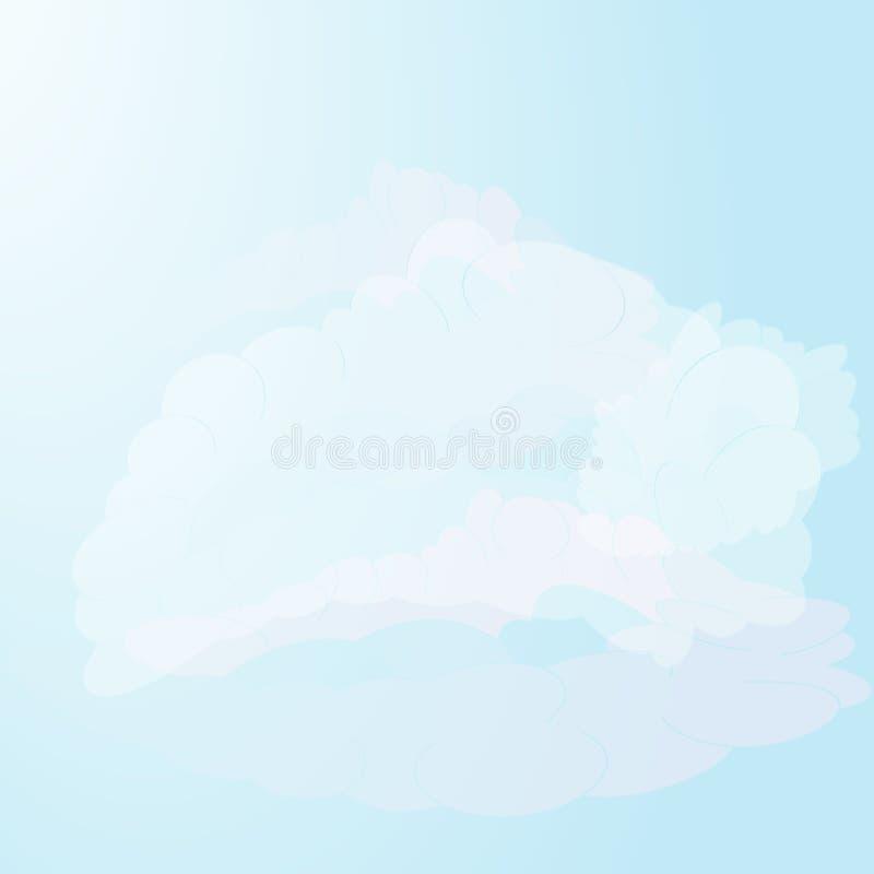 Realistische wolken op een blauwe hemelachtergrond Vector ontwerp royalty-vrije illustratie
