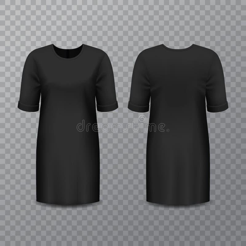 Realistische zwartekleding of lang overhemd vector illustratie