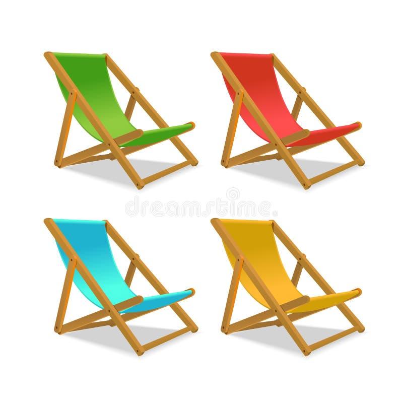 Realistischer ausf?hrlicher Bett-Stuhl 3d Sun Vektor stock abbildung