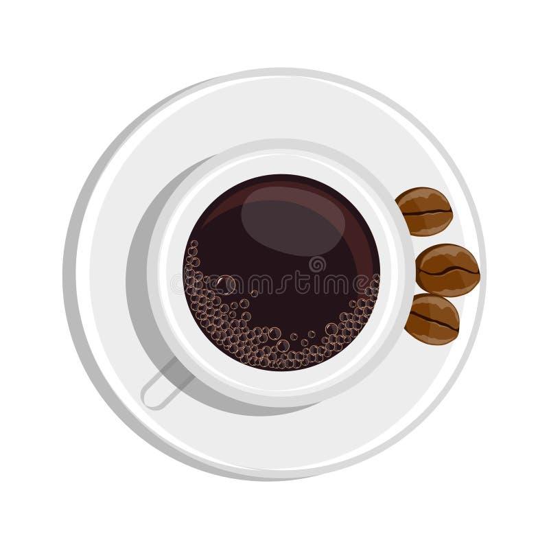 Realistischer Bild Tasse Kaffee lizenzfreie abbildung