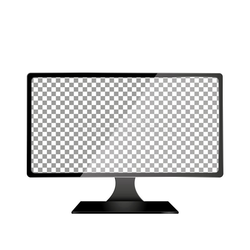 Realistischer Computer mit dem transparenten Tapeten-Schirm lokalisiert Satz Gerät-Modell-unterschiedliche Gruppen und Schichten  lizenzfreie abbildung