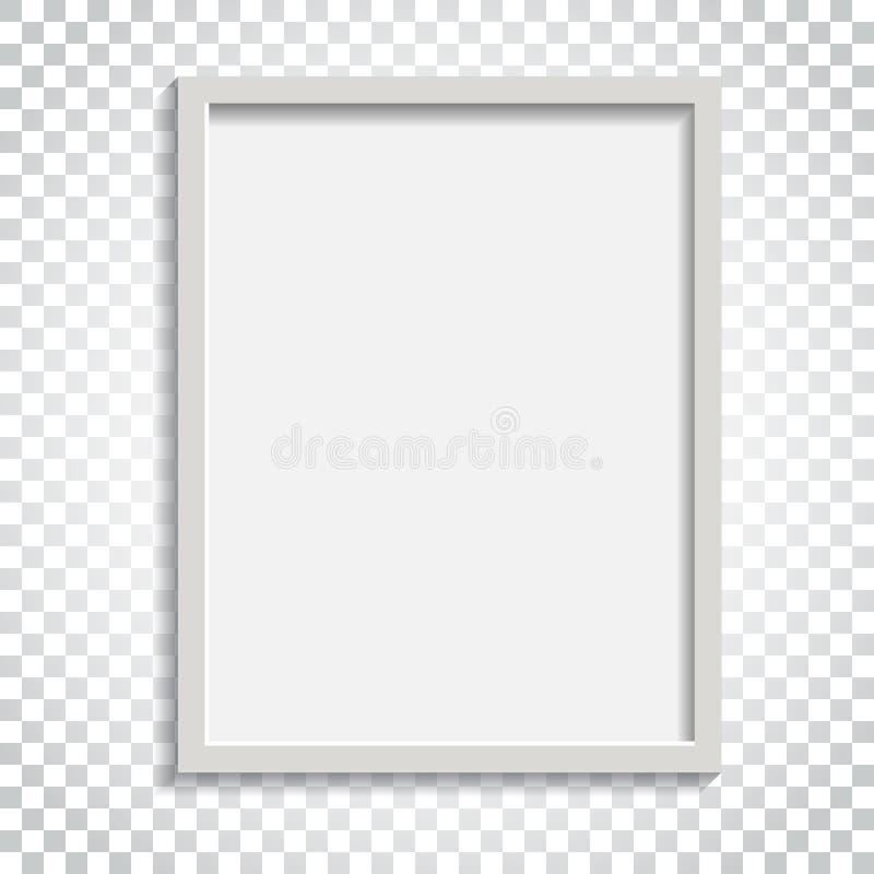 Download Realistischer Fotorahmen Auf Lokalisiertem Hintergrund Bilderrahmen Vec Vektor Abbildung - Illustration von leerzeichen, papier: 96935683