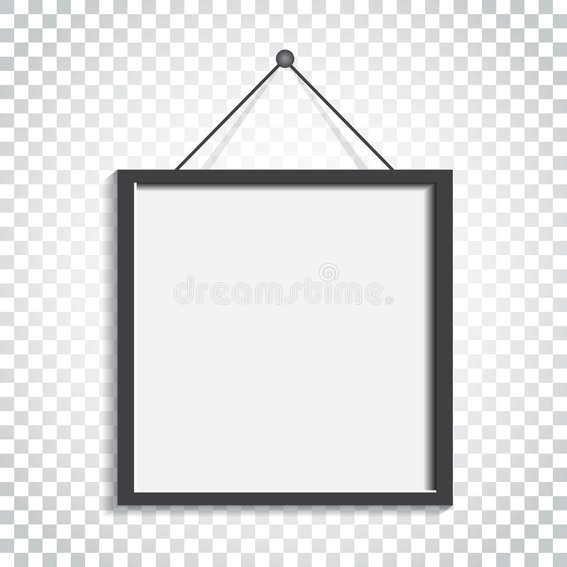 Download Realistischer Fotorahmen Auf Lokalisiertem Hintergrund Bilderrahmen Vec Vektor Abbildung - Illustration von abbildung, plan: 96935730