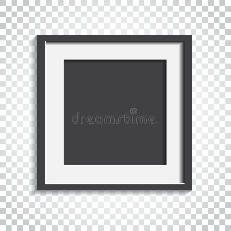 Download Realistischer Fotorahmen Auf Lokalisiertem Hintergrund Bilderrahmen Vec Vektor Abbildung - Illustration von modern, feld: 96935767