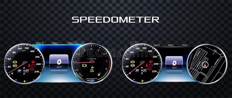 Realistischer Geschwindigkeitsmesser Illustrations-Vektor ENV 10 vektor abbildung