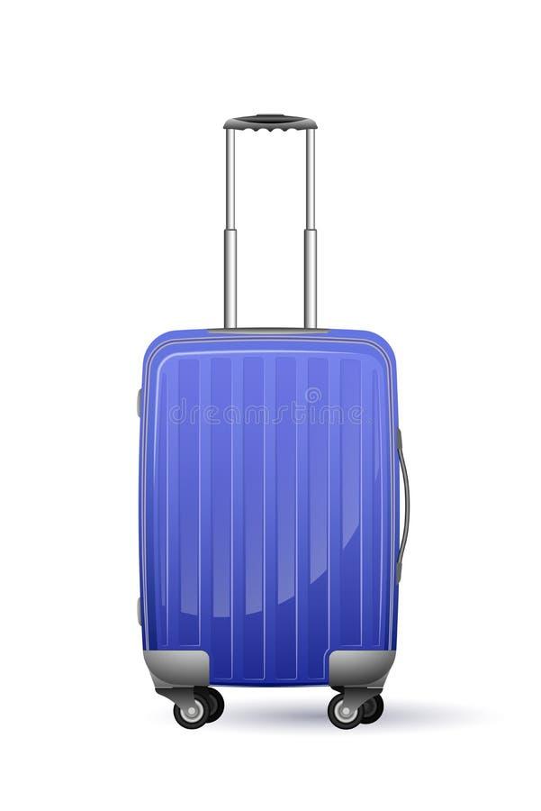 Realistischer Kunststoffkoffer auf Rädern Der Körper ist grün Für Ferien, Geschäftsreise oder Reise stockfotos