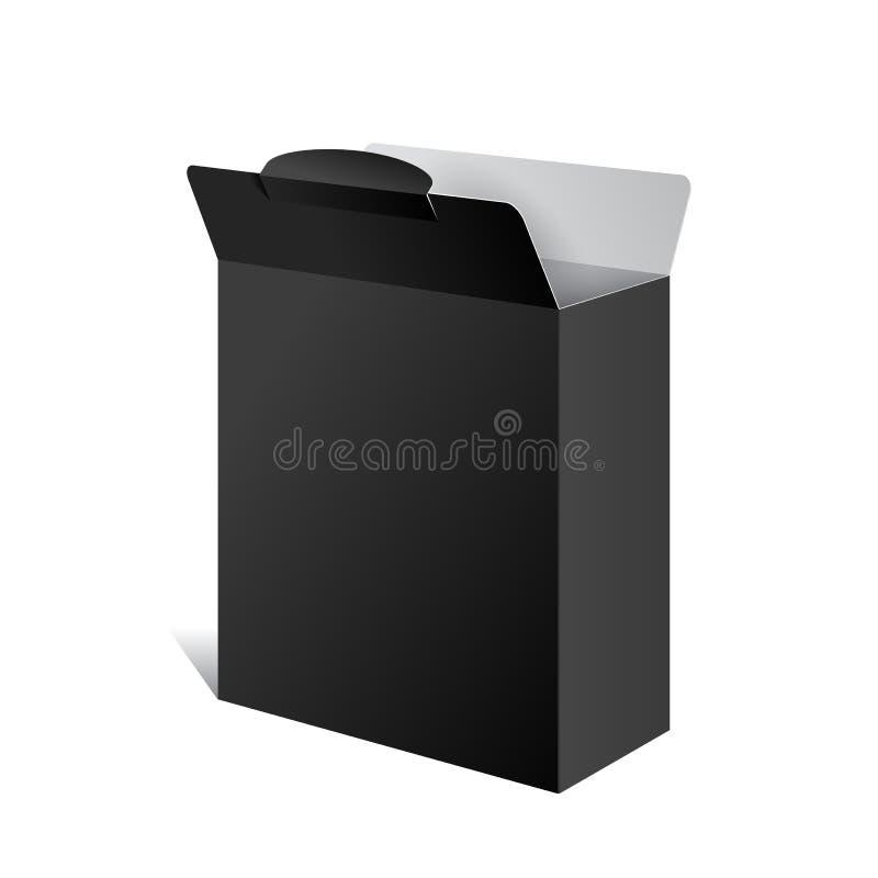 Realistischer Paket-Kasten. Für Software Gerät vektor abbildung