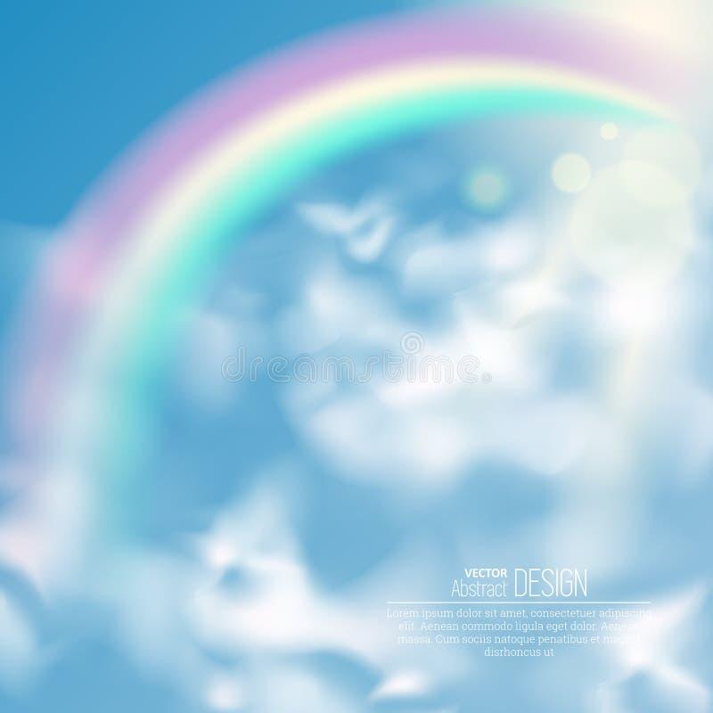 Realistischer Regenbogen stock abbildung