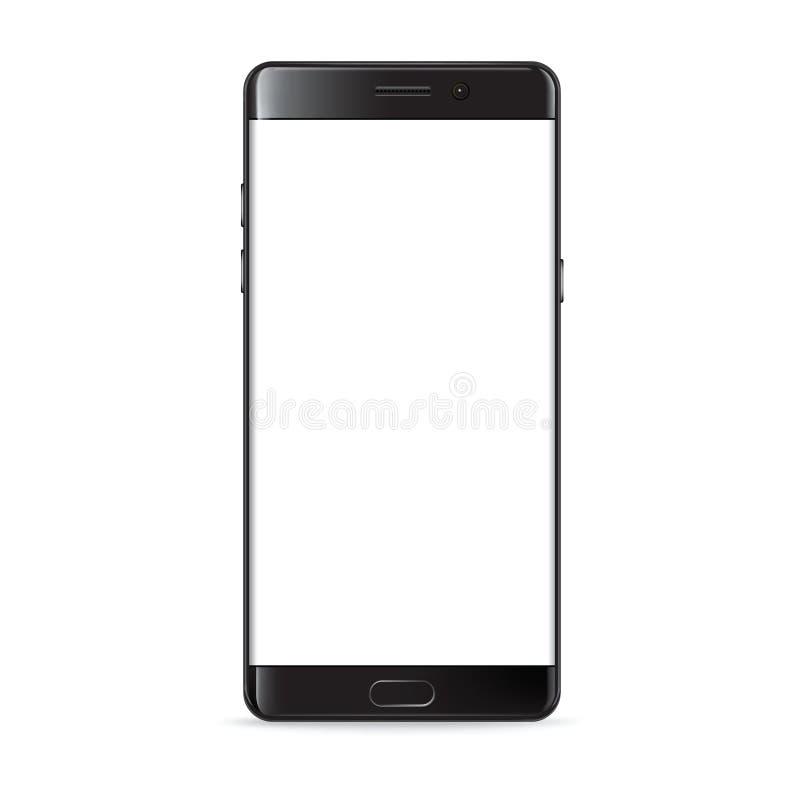 Realistischer Smartphonemodellvektor stock abbildung