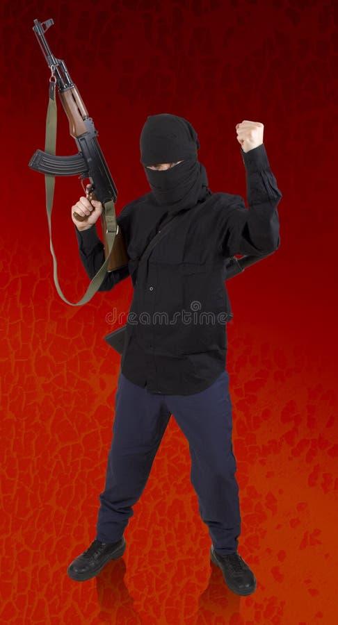 Realistischer Terrorist AUSSCHNITTS-PFAD! Lizenzfreies Stockfoto