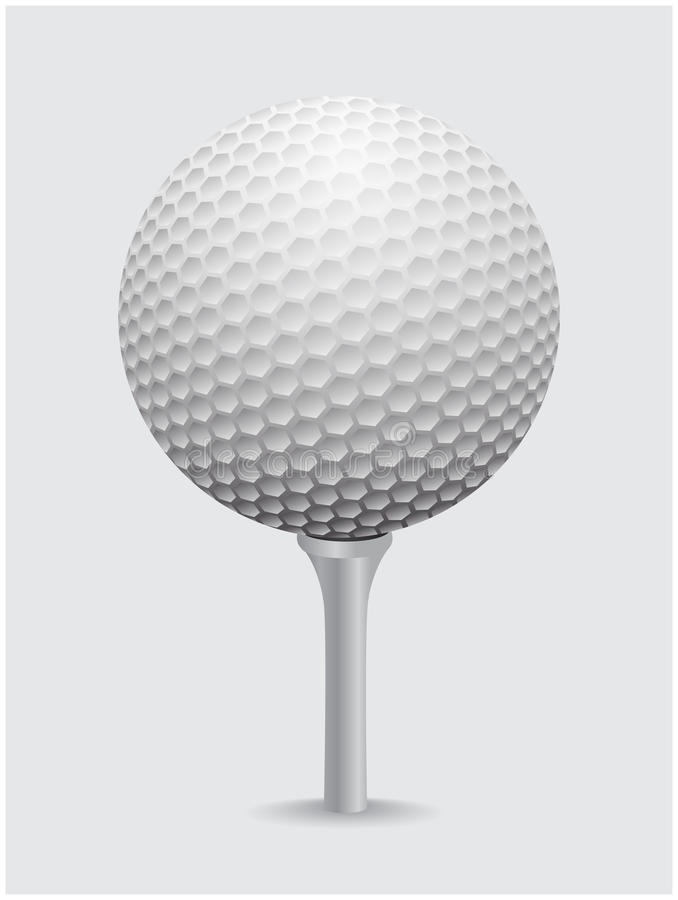 Realistischer Vektor des Golfballes Bild der einzelnen Golfausrüstung auf Kegelball lizenzfreie abbildung