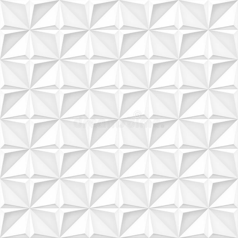 Realistischer Vektor des Volumens spielt Beschaffenheit, helle geometrische nahtlose Fliesen Muster, Entwurf die Hauptrolle weiße vektor abbildung
