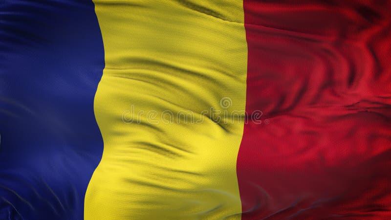 Realistischer wellenartig bewegender Flaggen-Hintergrund RUMÄNIENS lizenzfreie abbildung