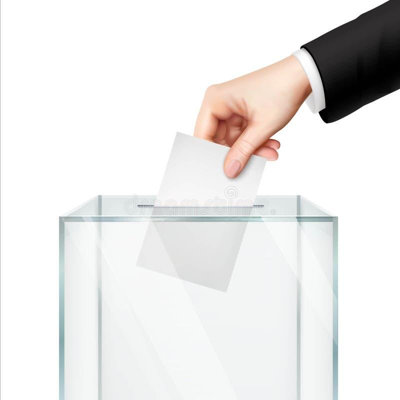 Realistisches Abstimmungskonzept lizenzfreie abbildung
