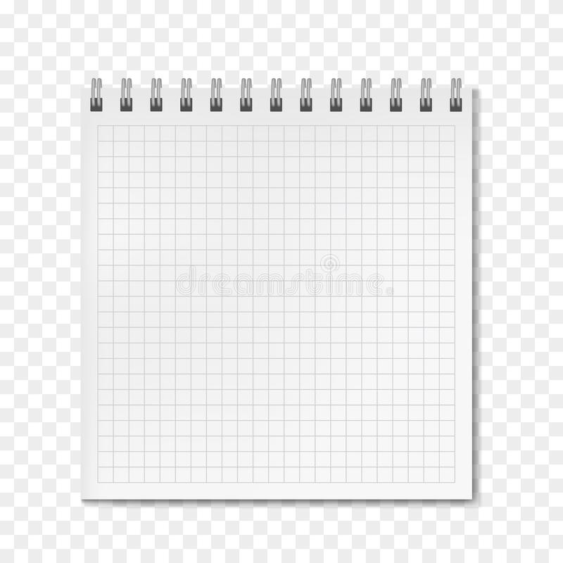 Realistisches angeordnetes Notizbuch des vertikalen Vektors des Quadrats lizenzfreie abbildung
