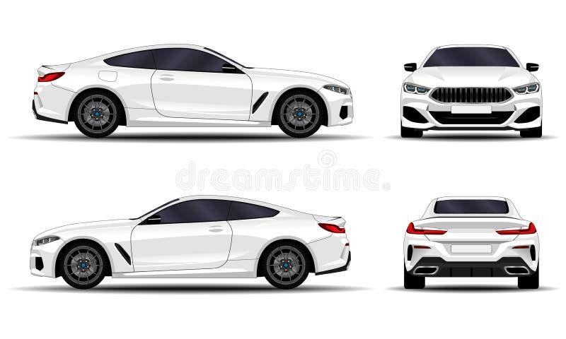 Realistisches Auto Sport-Coupé stock abbildung
