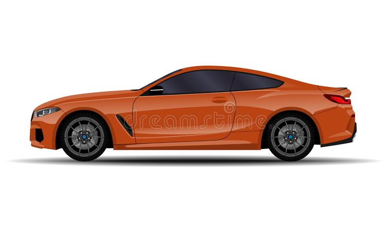 Realistisches Auto Sport-Coupé lizenzfreie abbildung