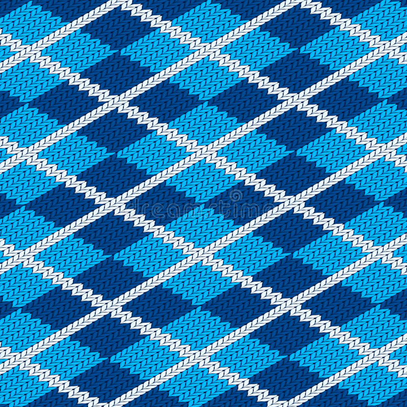 Realistisches blaues Tuch pattetn lizenzfreie abbildung