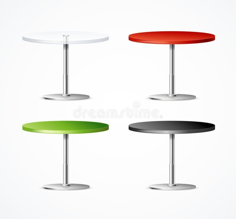 Realistisches 3d führte einen Bein-Tabellen-Restaurant-Satz einzeln auf Vektor stock abbildung