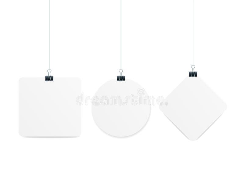 Realistisches 3d führte Form-Aufhänger Dangler oder Fahne einzeln auf Vektor vektor abbildung