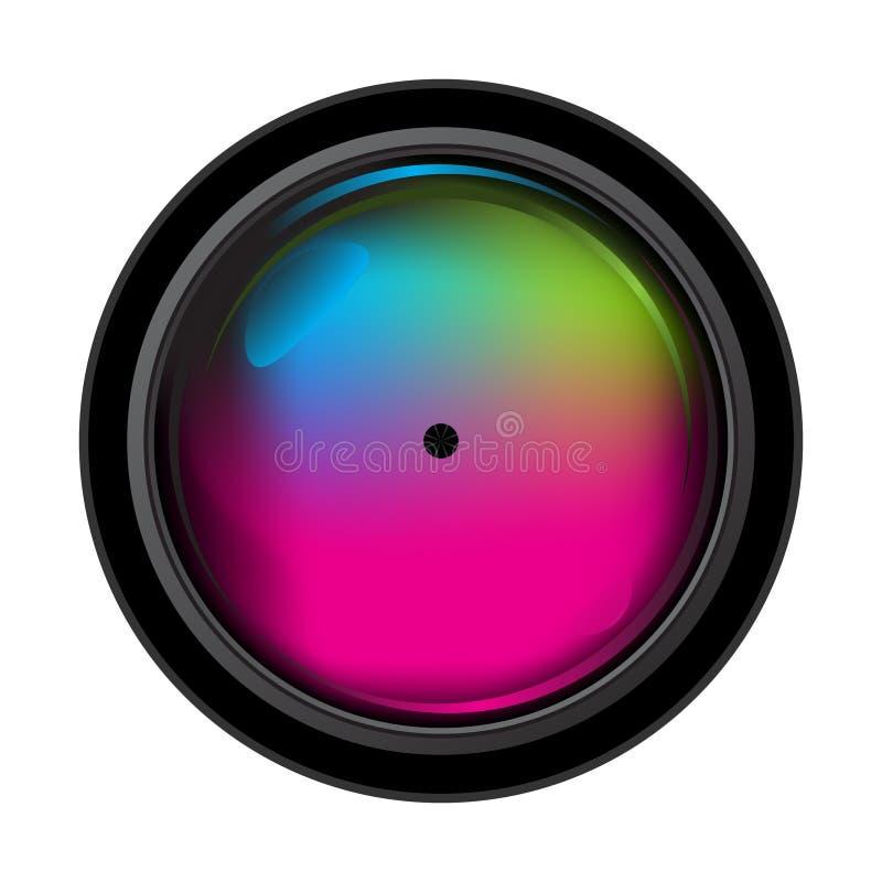 Realistisches Digitalkameraobjektiv stock abbildung