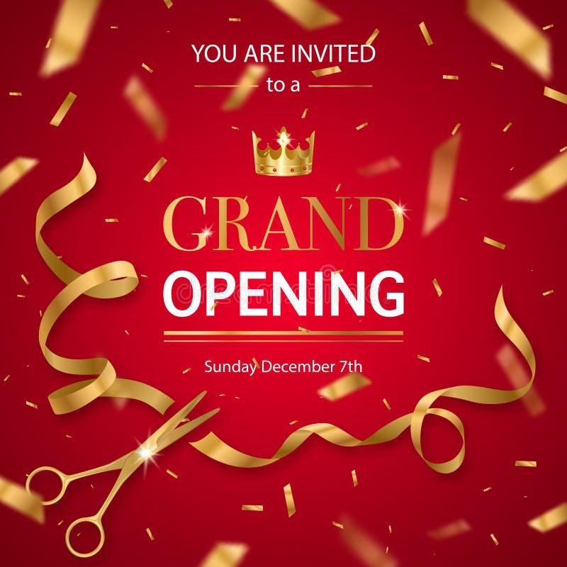 Realistisches Einladungs-Muster der festlichen Eröffnung