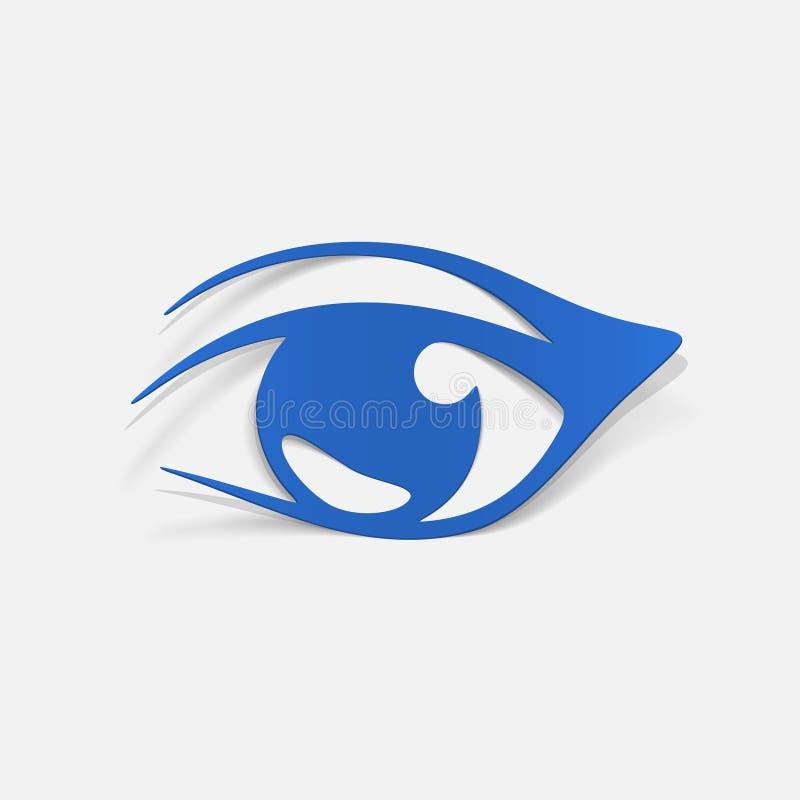 Realistisches Gestaltungselement: Auge lizenzfreie abbildung