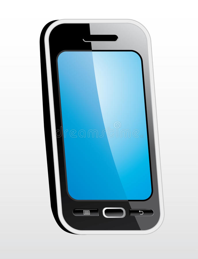 Glattes intelligentes Telefon stockfoto