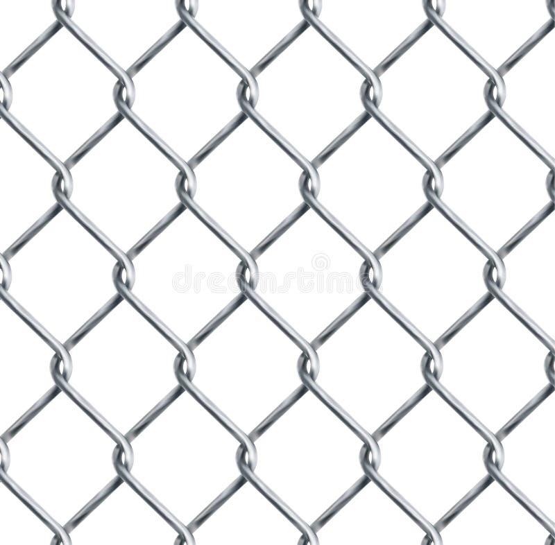Realistisches Kettenglied, Kettenglied, das Beschaffenheit lokalisiert auf Transparenzhintergrund, Metalldraht-Maschenzaunentwurf stock abbildung
