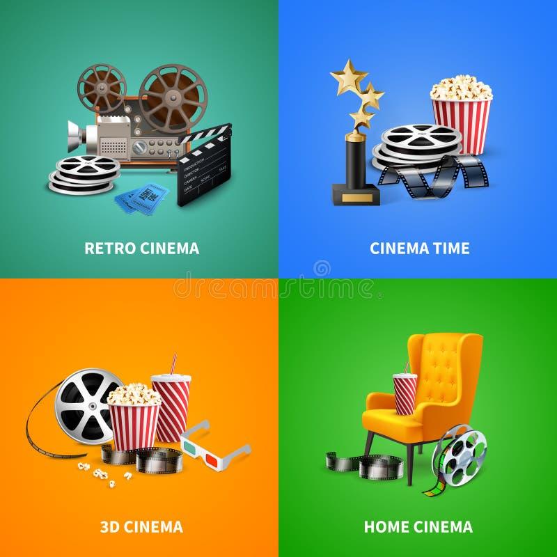 Realistisches Kino-Konzept des Entwurfes stock abbildung
