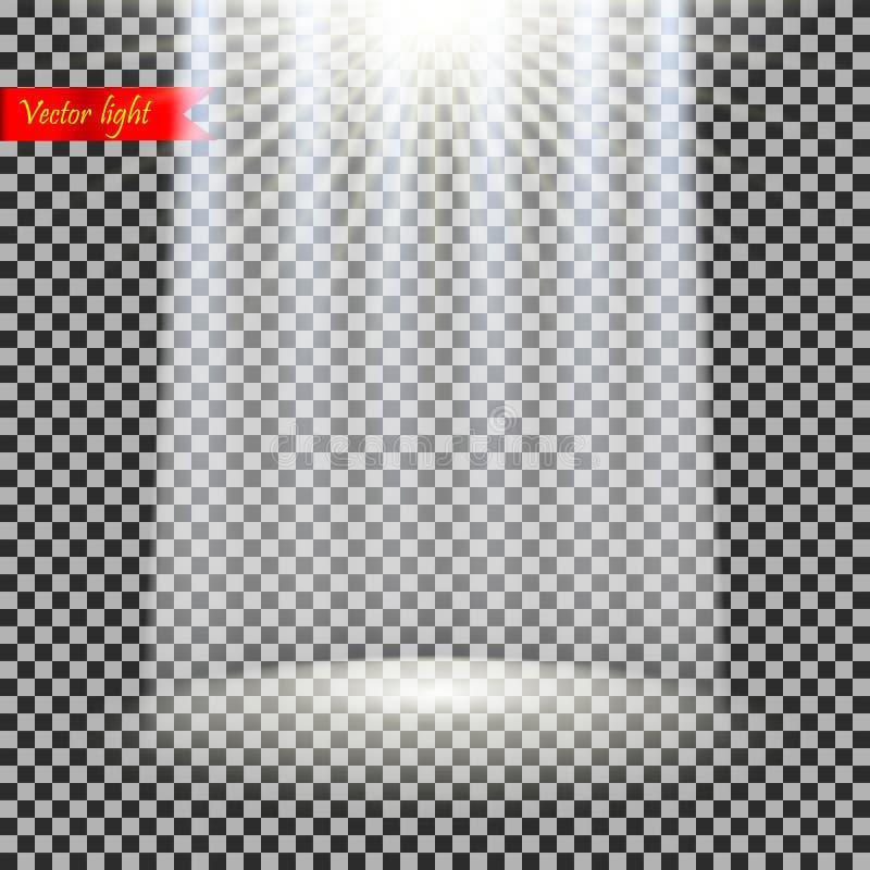 Realistisches Licht des Vektors vektor abbildung